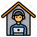 Working Home Online Icon