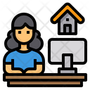 Home Office Work From Home Studio Icon