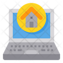 Laptop Home Work From Home Icon