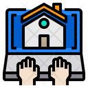 Home Hands Laptop Icon