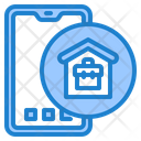 Mobilephone Work From Home Work Icon