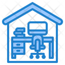 Computer Worker Work From Home Icon