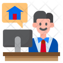 Office Work From Home Work Icon