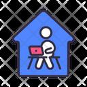 Work Home Coronavirus Icon