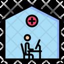 Work From Home Coronavirus Virus Icon