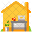 Work From Home Computer Home Icon