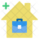 Work Home Save Icon
