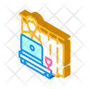 Working Home Isometric Icon