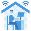 Work From Home Teleworking Remote Icon