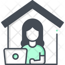 Work From Home Online Work Work Icon
