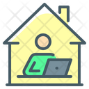 Work From Home Working Home Icon
