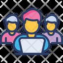 Work Group Circle Job Icon