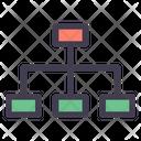 Work Hierarchy Hierarchy Flowchart Icon