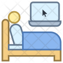 Work in bed Icon