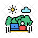 Remote Work Nature Icon
