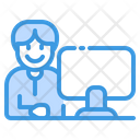 Computer Education Learning Icon