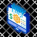 Computer Cache Settings Icon