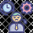 Work Pressure Force Overwork Icon