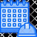 Calendar Helmet Building Icon