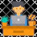 Work Desk Workplace Icon