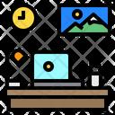 Laptop Desk Clock Icon