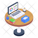 Office Table Work Table Office Interior Icon