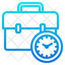 Time Worker Work From Home Icon