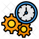 Time Management Work Time Productivity Icon