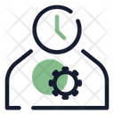 Work Time Time Clock Icon