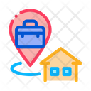 Direction From Home Icon