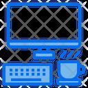 Computer Monitor Coffee Break Icon