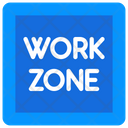 Work Zone Working Area Construction Area Icon