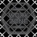 Work Zone Construction Area Road Board Icon
