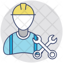 Worker Labourer Repairman Icon