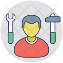 Worker Laborer Repairman Icon