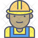 Worker Construction Helmet Icon