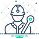 Worker Construction Constructor Icon