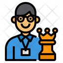 Businessman Chess Worker Icon