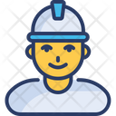Construction Worker Supervisor Icon
