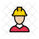 Worker Engineer Builder Icon