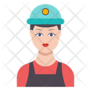 Worker Engineer Female Icon