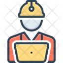 Worker Roustabout Engineer Icon