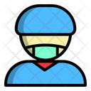Industry Factory Man Icon