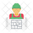 Worker Builder Construction Icon
