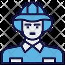 Worker Man Avatar Icon