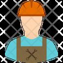 Worker Wrench Helmet Icon