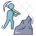 Worker Digging Pick Icon