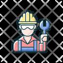 Worker Repairman Man Icon