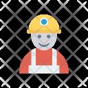 Worker Engineer Man Icon