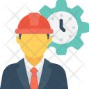 Worker Timer Labour Icon